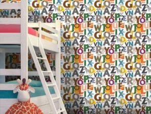 Αλφάβητος Παιδικά Ταπετσαρίες Τοίχου 100 x 100 cm