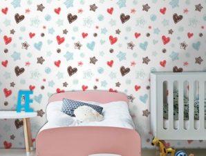 Σχηματάκια Παιδικά Ταπετσαρίες Τοίχου 100 x 100 cm