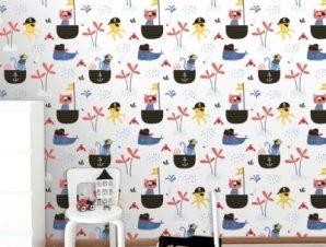 Μικροί Πειρατές Παιδικά Ταπετσαρίες Τοίχου 100 x 100 cm