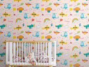 Βροχερός Ουρανός Παιδικά Ταπετσαρίες Τοίχου 100 x 100 cm