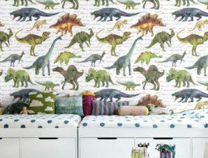 Δεινόσαυροι Παιδικά Ταπετσαρίες Τοίχου 100 x 100 cm