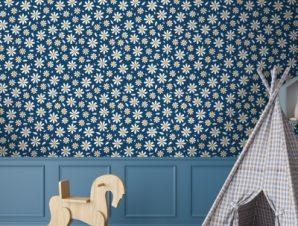 Λουλούδια Μαργαρίτες Παιδικά Ταπετσαρίες Τοίχου 100 x 100 cm