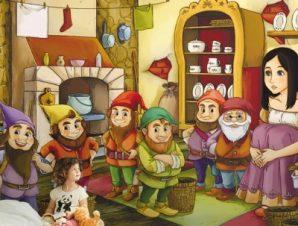 Η χιονάτη και οι επτά νάνοι Παιδικά Ταπετσαρίες Τοίχου 75 x 110 cm
