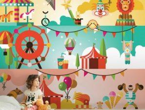 Τσίρκο Παιδικά Ταπετσαρίες Τοίχου 81 x 100 cm