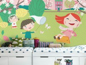 Παίζοντας Στην Φύση Παιδικά Ταπετσαρίες Τοίχου 80 x 120 cm
