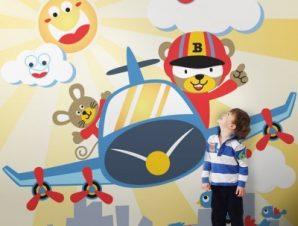 Μικροί Πιλότοι Παιδικά Ταπετσαρίες Τοίχου 100 x 100 cm