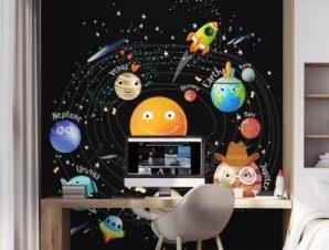 Ηλιακό Σύστημα 2 Παιδικά Ταπετσαρίες Τοίχου 113 x 90 cm