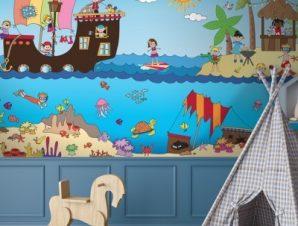 Πειρατές της Καραιβικής Παιδικά Ταπετσαρίες Τοίχου 70 x 140 cm