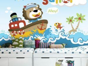 Sailor ahoy! Παιδικά Ταπετσαρίες Τοίχου 83 x 110 cm