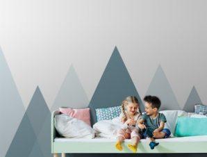 Γκρι Τοπίο Παιδικά Ταπετσαρίες Τοίχου 84 x 140 cm