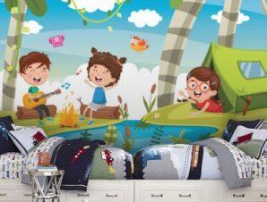 Παιδικά Τραγουδάκια Παιδικά Ταπετσαρίες Τοίχου 76 x 130 cm