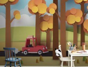 Βόλτα Στο Δάσος Παιδικά Ταπετσαρίες Τοίχου 80 x 120 cm