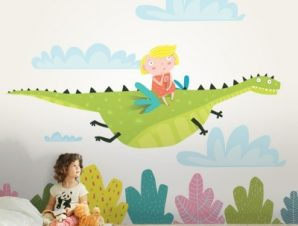 Ιπτάμενος Δεινόσαυρος Παιδικά Ταπετσαρίες Τοίχου 80 x 120 cm