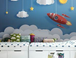 Πύραυλος Παιδικά Ταπετσαρίες Τοίχου 81 x 130 cm