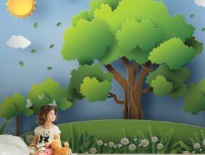 Φύση Παιδικά Ταπετσαρίες Τοίχου 80 x 130 cm