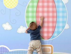 Παιδικό αερόστατο Παιδικά Ταπετσαρίες Τοίχου 100 x 100 cm