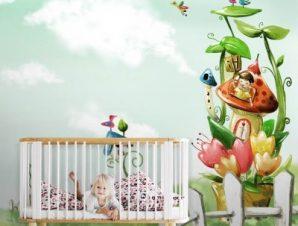 Τοπίο με νεράιδες Παιδικά Ταπετσαρίες Τοίχου 83 x 115 cm