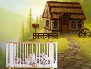 Φανταστικό τοπίο Παιδικά Ταπετσαρίες Τοίχου 79 x 125 cm