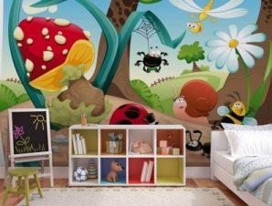 Έντομα Παιδικά Ταπετσαρίες Τοίχου 85 x 120 cm