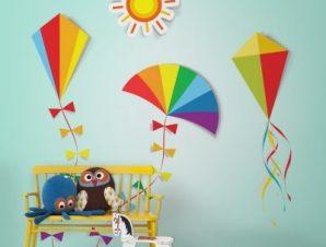 Χαρταετοί Παιδικά Ταπετσαρίες Τοίχου 100 x 100 cm