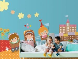 Ώρα για σχολείο Παιδικά Ταπετσαρίες Τοίχου 117 x 90 cm