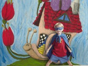 Σαλιγκάρι Παιδικά Ταπετσαρίες Τοίχου 108 x 95 cm