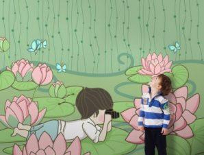 Μικρός φωτογράφος Παιδικά Ταπετσαρίες Τοίχου 100 x 100 cm