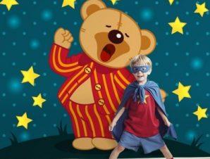 Αρκουδάκι με πιτζάμες Παιδικά Ταπετσαρίες Τοίχου 100 x 100 cm