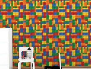 Τουβλάκια Λέγκο Παιδικά Ταπετσαρίες Τοίχου 100 x 100 cm