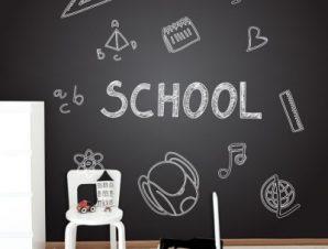 Επιστροφή στο σχολείο Παιδικά Ταπετσαρίες Τοίχου 100 x 100 cm