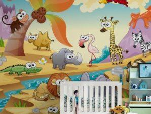 Ζώα στην έρημο Παιδικά Ταπετσαρίες Τοίχου 85 x 120 cm