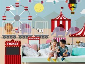 Λούνα παρκ Παιδικά Ταπετσαρίες Τοίχου 85 x 120 cm