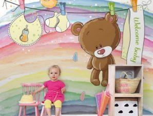 Καλωσόρισες μωράκι Παιδικά Ταπετσαρίες Τοίχου 103 x 105 cm