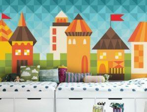 Παραμυθένια πόλη Παιδικά Ταπετσαρίες Τοίχου 72 x 140 cm