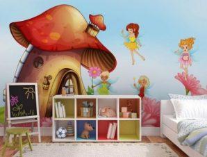 Στρουμφόσπιτo Παιδικά Ταπετσαρίες Τοίχου 79 x 130 cm