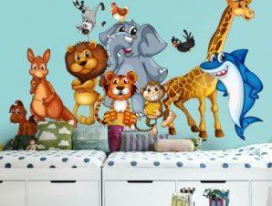 Βιβλίο της ζούγκλας Παιδικά Ταπετσαρίες Τοίχου 77 x 130 cm