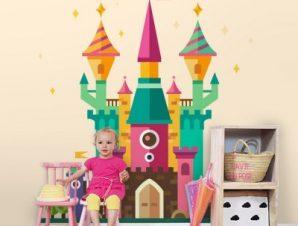 Μαγικό κάστρο Παιδικά Ταπετσαρίες Τοίχου 100 x 100 cm