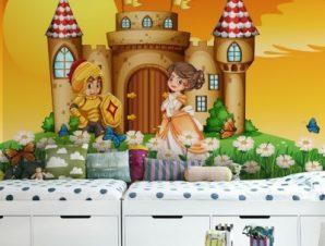 Κάστρο των ιπποτών Παιδικά Ταπετσαρίες Τοίχου 81 x 125 cm