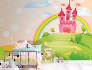 Κάστρο του παραμυθιού Παιδικά Ταπετσαρίες Τοίχου 85 x 120 cm