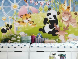 Ζωάκια στο λούνα παρκ Παιδικά Ταπετσαρίες Τοίχου 83 x 120 cm