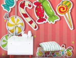 Ζαχαρωτά Παιδικά Ταπετσαρίες Τοίχου 100 x 100 cm