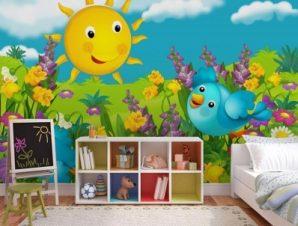 Ηλιόλουστη Μέρα Παιδικά Ταπετσαρίες Τοίχου 82 x 123 cm