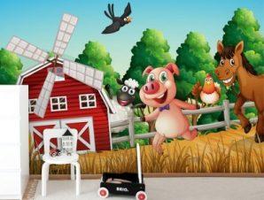 Χαρούμενη Φάρμα Παιδικά Ταπετσαρίες Τοίχου 82 x 122 cm