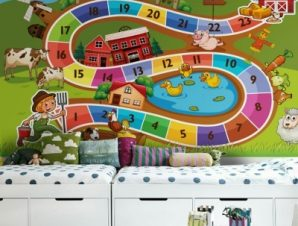 Επιτραπέζιο παιχνίδι Παιδικά Ταπετσαρίες Τοίχου 84 x 119 cm