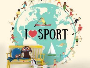 Αθλήματα Παιδικά Ταπετσαρίες Τοίχου 100 x 100 cm