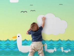 Παπάκια Παιδικά Ταπετσαρίες Τοίχου 106 x 95 cm