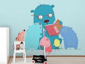Ώρα για Παραμύθι Παιδικά Ταπετσαρίες Τοίχου 87 x 115 cm