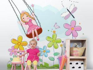 Νεράιδα Λουλουδιών Παιδικά Ταπετσαρίες Τοίχου 100 x 100 cm