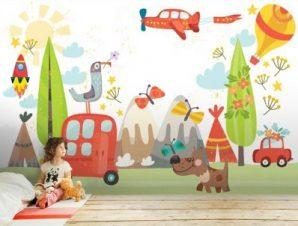 Εκδρομή στην φύση Παιδικά Ταπετσαρίες Τοίχου 82 x 123 cm