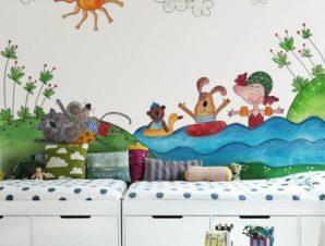 Ώρα για κολύμπι Παιδικά Ταπετσαρίες Τοίχου 86 x 118 cm